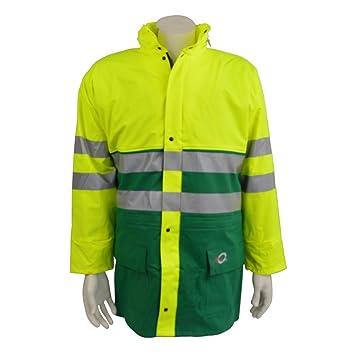 Warnschutzregenjacke leuchtgelb Gr XXL Bekleidung & Schutzausrüstung