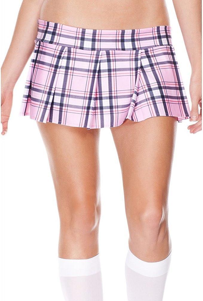 Bébé Rose Stretch Lycra écolière tartan écossais Plissé Junior//et mini jupe