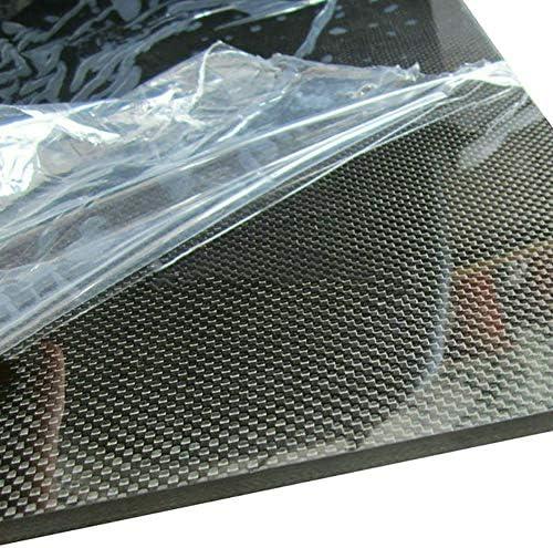 SOFIALXC 3K Kohlefaser-Platte, Platte aus 100% Faser, Laminatplatte (einfarbig, Glatte Oberfläche), 250mmx250mm, 0.5mm