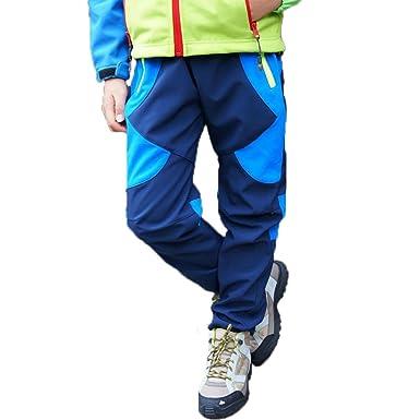 Pantalones de Trekking Hombre Pantalones de Softshell Pantalones Transpirable de Escalada Pantalones Impermeable Deportes Calentar Invierno Grueso ...