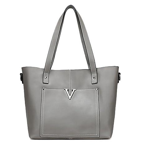 010dd864f2 JVPS 100-G 2018 Borsa shopping bag in vera pelle nera Borsa a spalla grossa