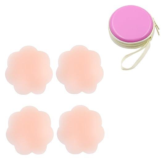 tuopuda® Pezoneras para Mujer Cubierta de Pezón Pezoneras Adhesivas Silicona Sujetador Pezon (2 pares de flores de ciruelo): Amazon.es: Ropa y accesorios