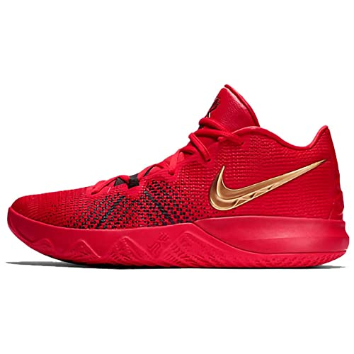 59beb75bdc27 Nike Men s Kyrie Flytrap Uni.Red MTLC Gold-Black Basketball Shoes-10 ...