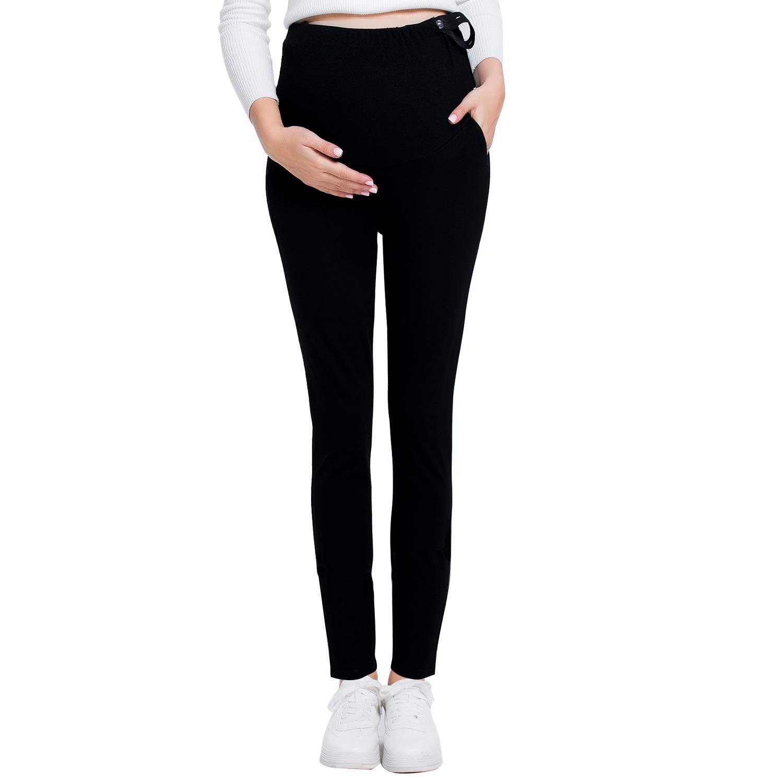 c0bfa7b3dc3c4 JOYNCLEON Pregnant Women Work Pants Stretchy Maternity Skinny Ankle Trousers  Slim for Women at Amazon Women's Clothing store: