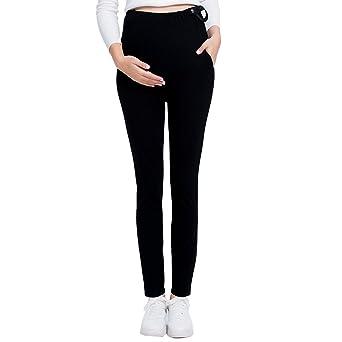 e065551d61abb JOYNCLEON Pregnant Women Work Pants Stretchy Maternity Skinny Ankle Trousers  Slim for Women at Amazon Women's Clothing store: