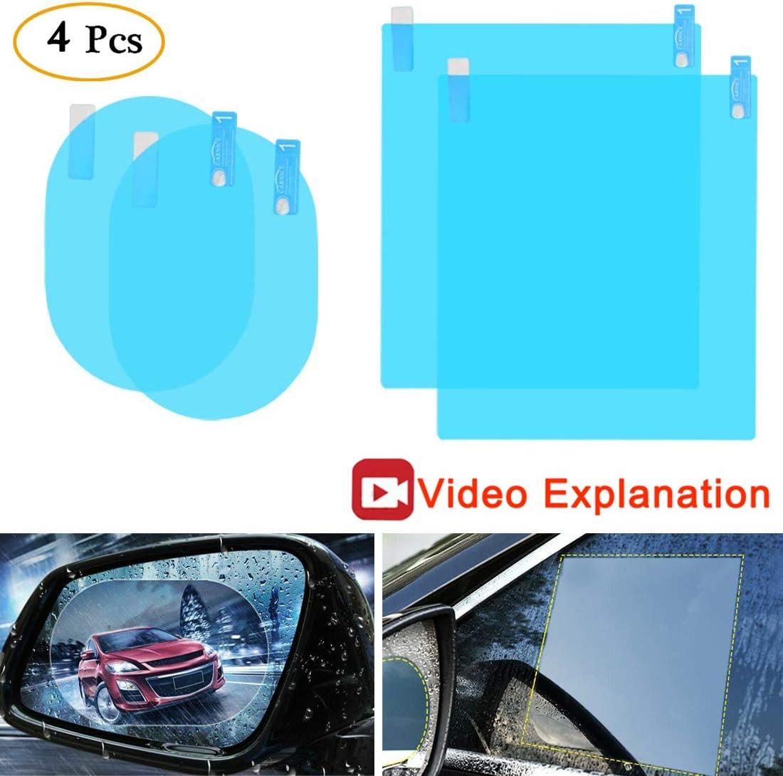 Car Rearview Mirror Protective Film Waterproof//Rain//Anti-Glare//Fog Film//Anti-Fog Car Rearview Mirror Film
