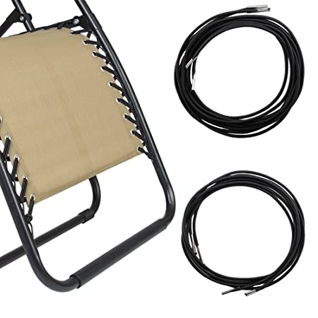 Recliners Replacement Elastic Cords Lafuma Repair Laces Black Rope For Zero  Gravity Lounge Bungee Beach Chair