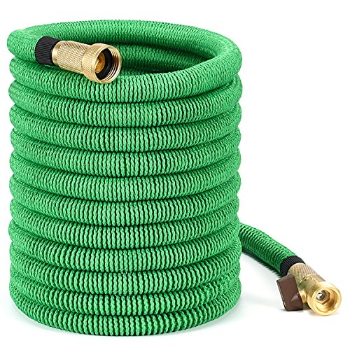 Vita Guardian 75 ft Expandable Garden Hose, Double Layer Strong Flexible Garden Expanding Water Hose...