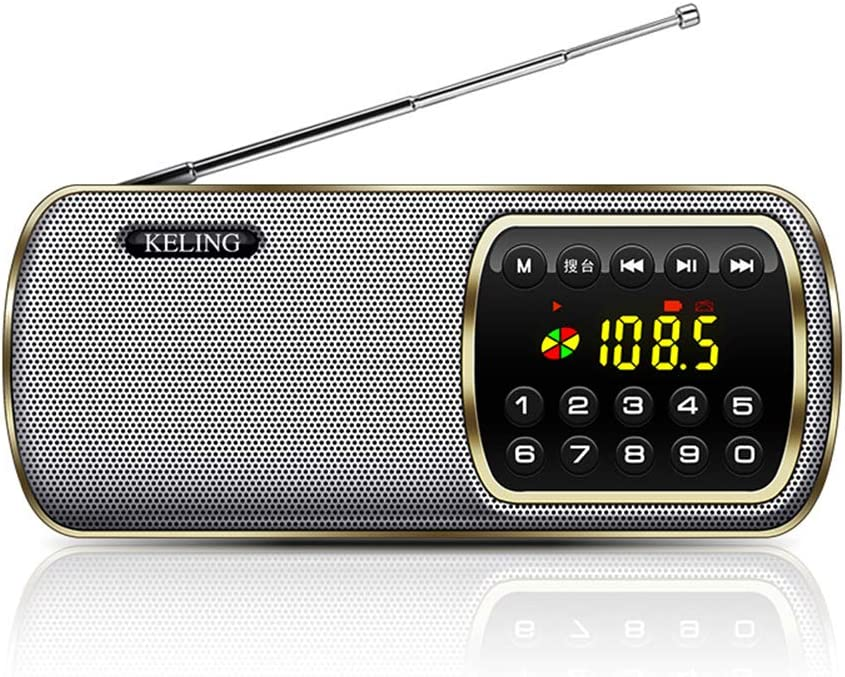 ZHFF Bolsillo para Radio de transistores de Radio, radios portátiles con Tarjeta de Jugador de Disco U Carga de Reproductor de música, para Caminar Que va de excursión
