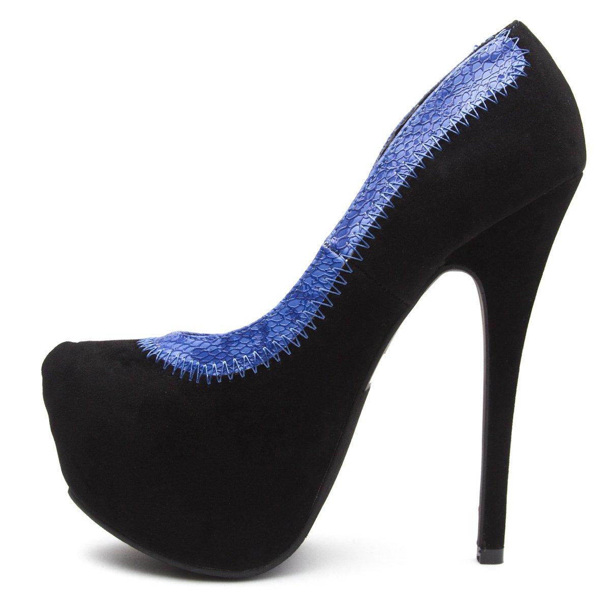 Styluxe Womens ARCHE Almond Toe Platform High Heel Stiletto Pump