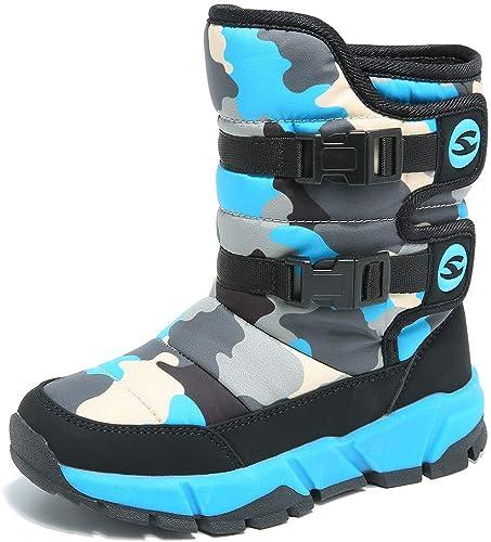 2019 New Boys Children/'s Snow Boots Winter Warm Fur Non-slip Ankle Ski Shoes UK