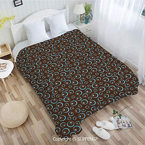 Luxury Bed Blanket Circular Pattern Abstract Oval Shapes Illustration Ornament Art Design(W31.5xL47.3 inch ) Easy Care Machine Wash for Bedroom/Living Room/Camping etc (Bed Oval Giraffe)