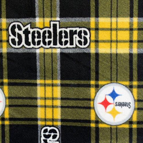 Pittsburgh Steelers Fleece Fabric - Fleece Print Pittsburgh Steelers Plaid 58 Inch Wide Fabric by the Yard (F.E.®)