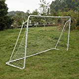 Lixada Soccer Goal 12′ X 6′ Portable Competition Football Net Detachable Iron Frame with Fastener Tape Review