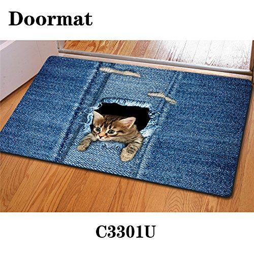 HUGS IDEA Entrance Floor Mats Indoor Doormat -