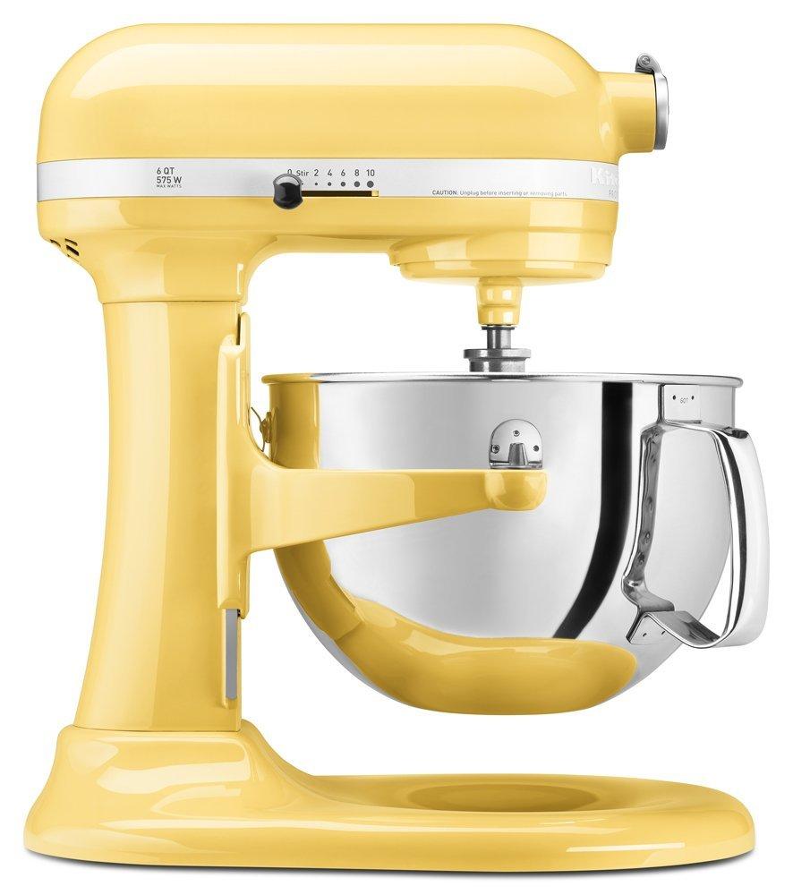 KitchenAid KP26M1XMY 6 Qt. Professional 600 Series Bowl-Lift Stand Mixer - Majestic Yellow (Renewed)