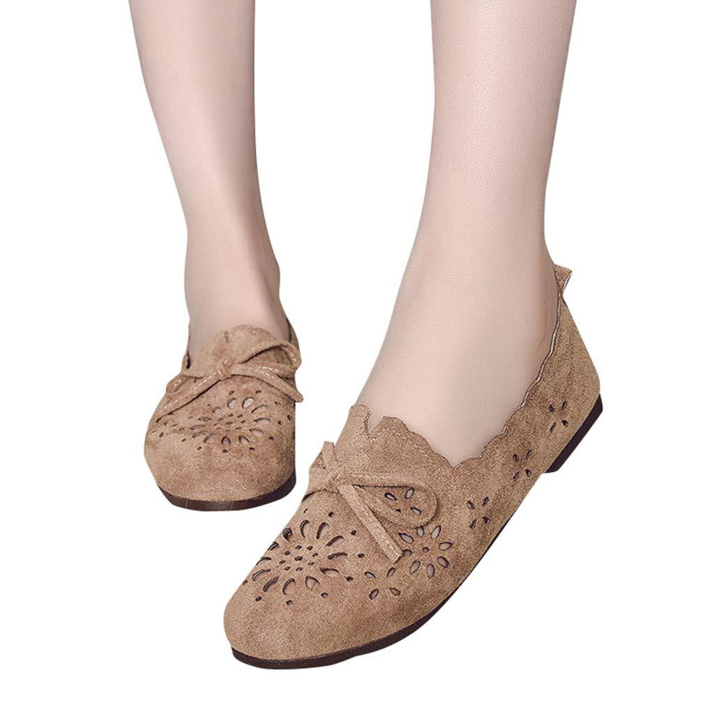 Mocassins Femme Loafers Casual Bateau Chaussures de Ville Alaso Pas Cher Femmes Daim Noeud Papillon Penny Mocassins Pantoufle