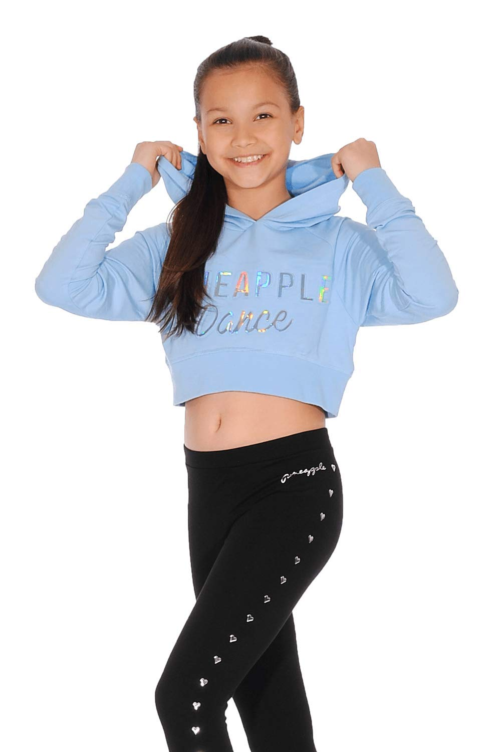 Pineapple Girls Embossed Crop Hoodie TH1550C BLUE JS 9//10