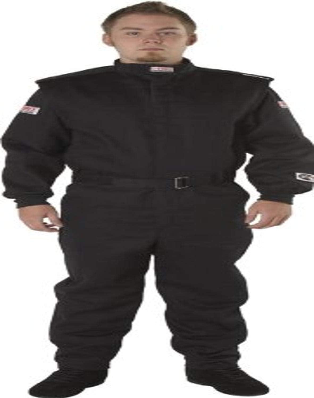 G-Force 4525MEDBK Multi-Layer Racing Suit Black Medium
