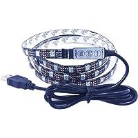 Ledmomo Ledstrip, waterdicht, RGB, SMD 5050, 60 leds, 5 V, 2 m, flexibel, met afstandsbediening, meerkleurig voor TV/PC…