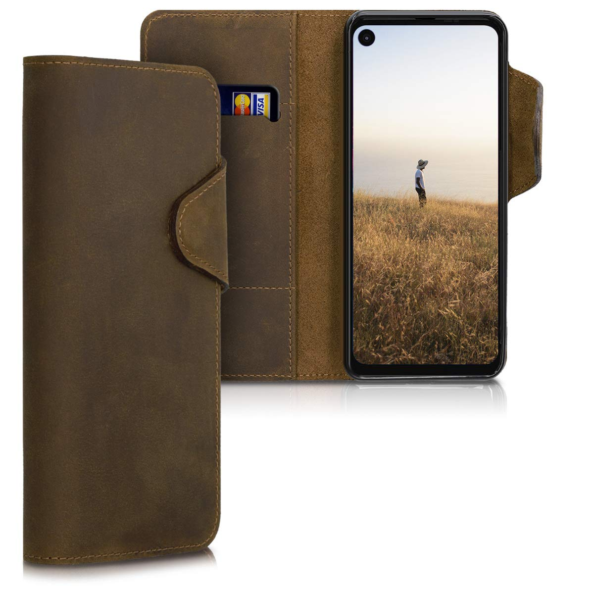 Funda De Cuyero Estilo Billetera Motorola One Action