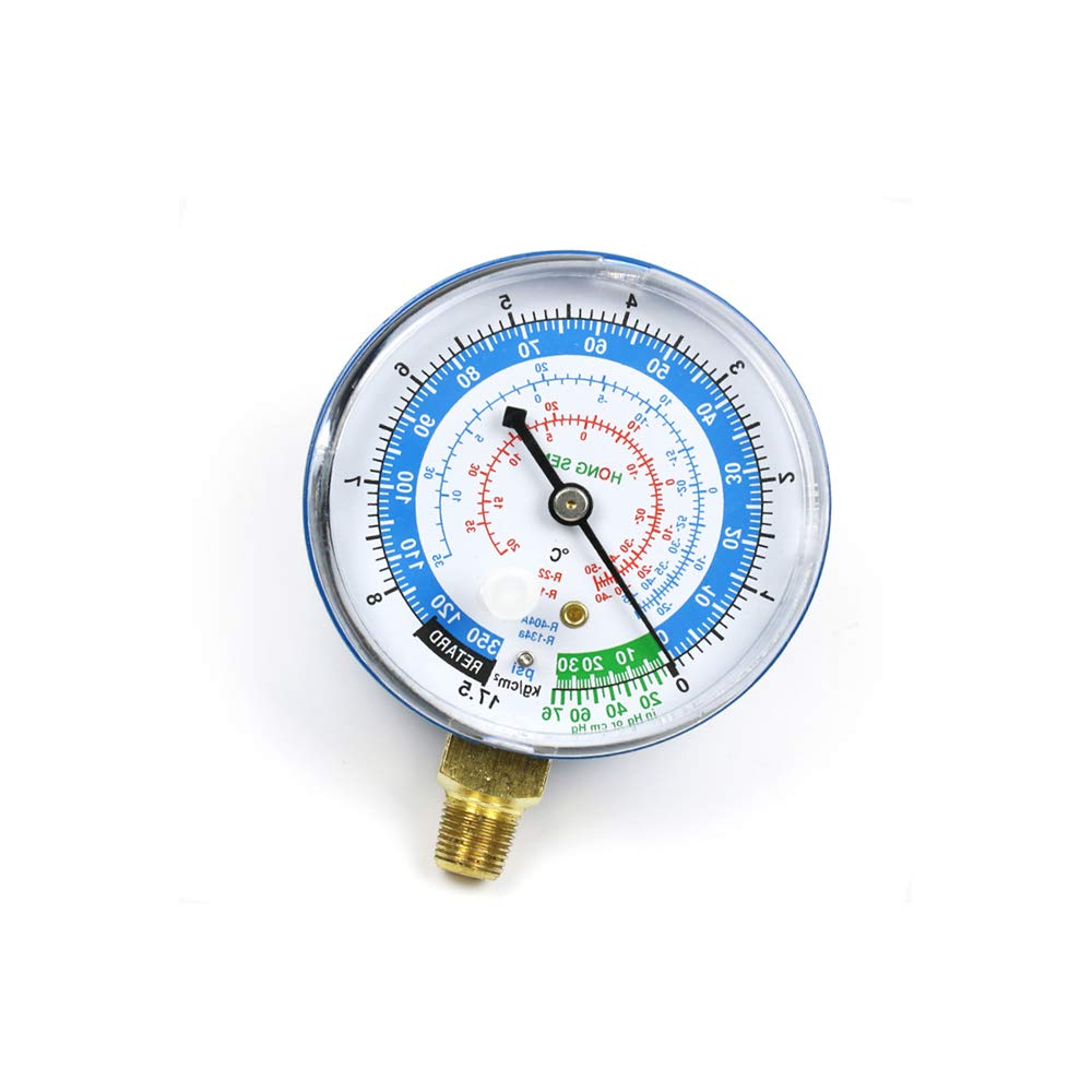 Refrigerant Low Pressure Gauge PSI KPA R134a R22 R404a BOOMBOOST New Air Conditioner Blue