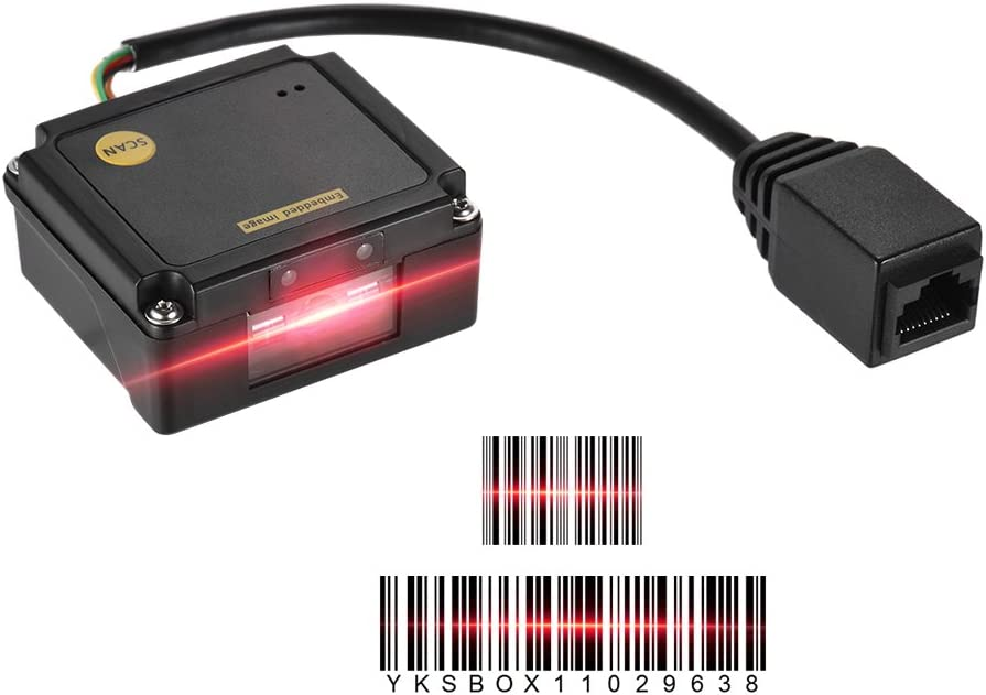 Aibecy Módulo de lector de código de barras incorporado 1D Módulo de lector de código de barras CCD Módulo de motor con interfaz USB
