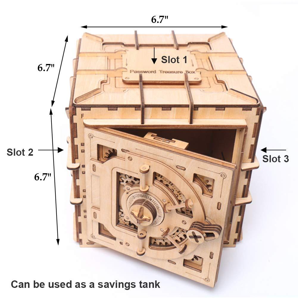 YOFIT Mechanical Models,3D Wooden Puzzle,Model Safe Kit,Money Banks by yofit
