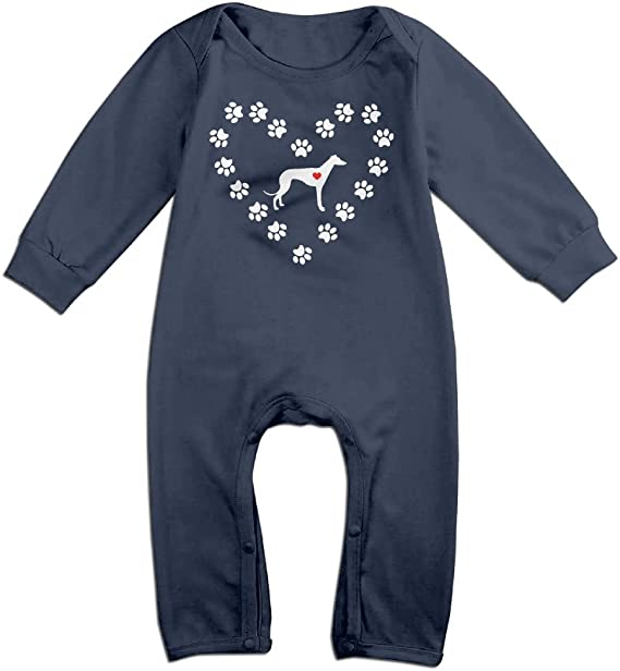 Mri-le1 Toddler Baby Boy Girl Bodysuits Home is Where My Dog is Infant Long Sleeve Romper Jumpsuit