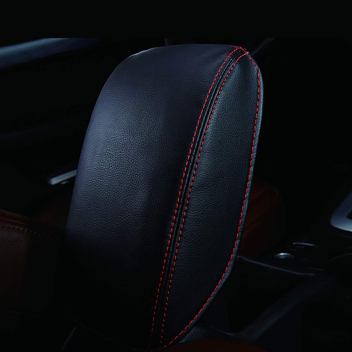 Auto scatola bracciolo della console centrale copertina accessori auto per A3 2013-2018 Rosso