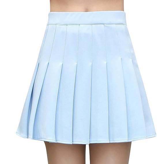 Falda Mujer Elástica Plisada Básica Falda Verano Mini Pleated ...