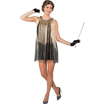 Net Toys Vestido Charleston Con Franjas Traje Flapper