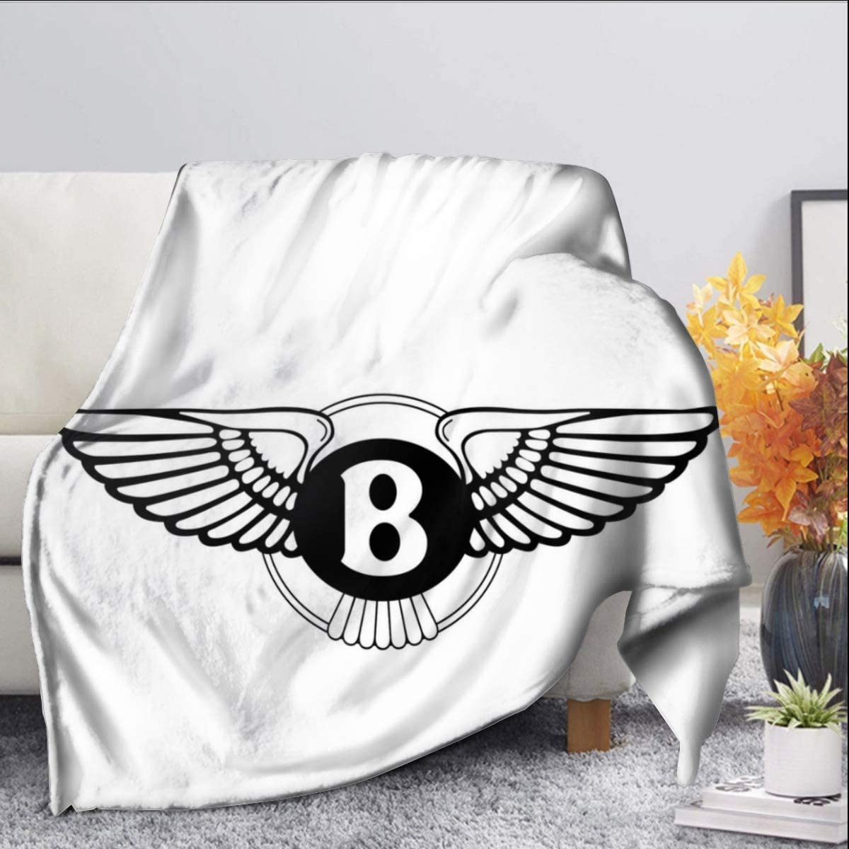 Bentley Manta de forro polar tamaño doble cómoda para cuna cama sofá silla 50 x 60 pulgadas