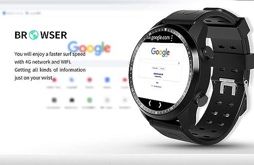 XUWLM Pulsera Smart Watch Android 6.0 OS Smartwatch 4G WiFi GPS ...
