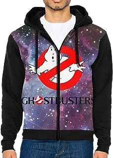 Leasan Ghostbusters Men's Full Zip Hoodie Hooded Long Sleeve Pocket Fleece Sweatshirt