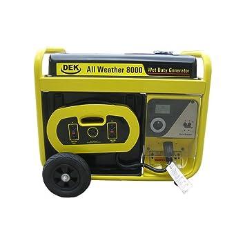 Amazon.com: Dek G8000 Surge - Generador eléctrico para todo ...
