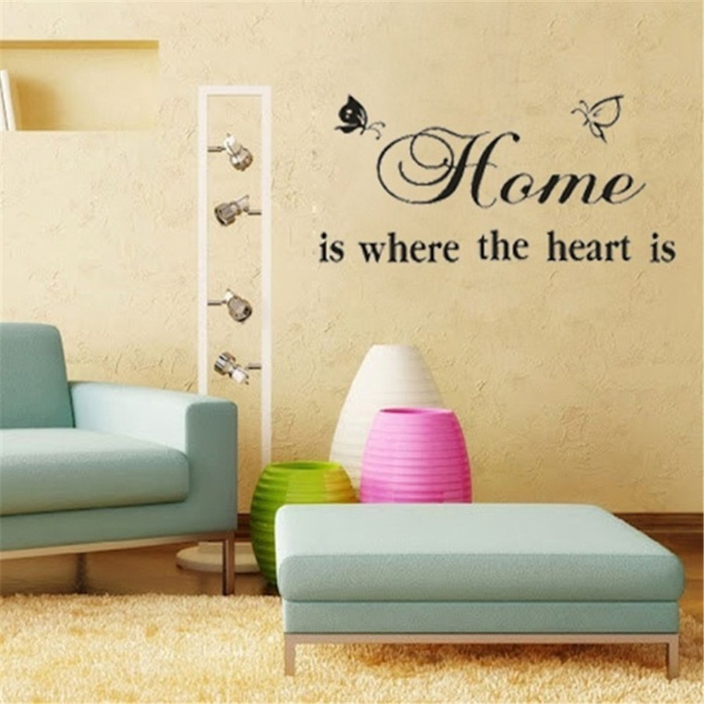 Amazon Fdfzz Wall Art Decor Decals Removable Mural Home Is