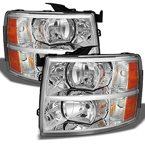 Chevy Silverado Replacement Headlights Driver/Passenger Head Lamps Pair New Replacement Headlight Driver
