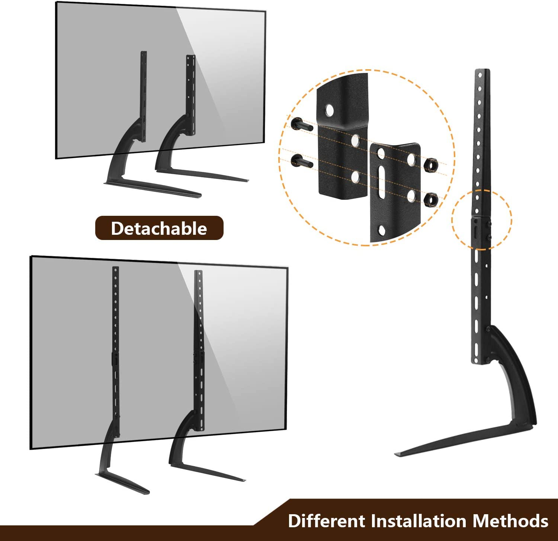 Universale Supporto TV da tavolo con regolazione in altezza Piedistallo TV per televisori piatto o curvo da 27 32 40 42 43 49 50 55 60 65 pollici MAX VESA 800 x 500 mm