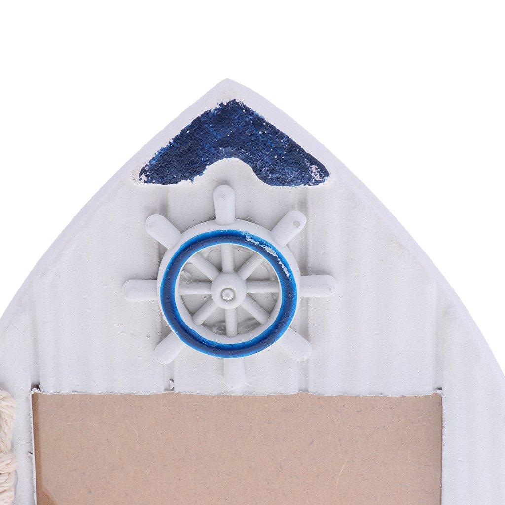 Homyl Nautische Holzboot Fotorahmen Bilderrahmen Ornament für Haus ...