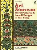 Art Nouveau Floral Patterns and Stencil Designs