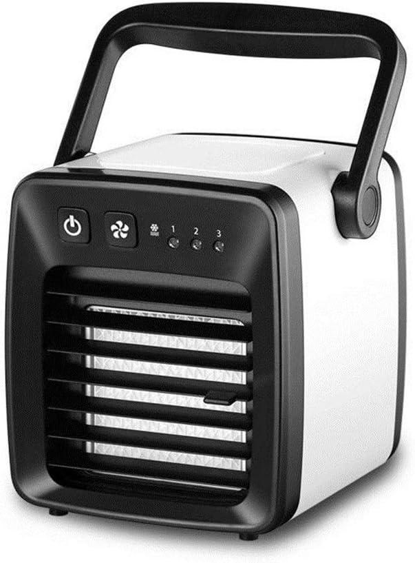Ventilador USB Mini portátil de refrigeración por aire del ventilador USB compartida Aire acondicionado Ventilador de carga de Ministerio del Interior del ventilador de aire frío para el hogar, la ofi