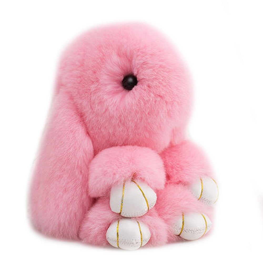 Amazon.com  Efanr Cute Fluffy Bunny Doll Keychain Soft Rabbit Key Ring  Pendant Toy for Women s Bag Charms or Car Cell Phone (Pink)  Cell Phones    ... 7e13d79be7