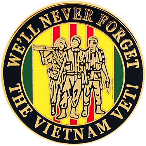 We'll Never Forget Vietnam Pin Military Collectibles for Men Women