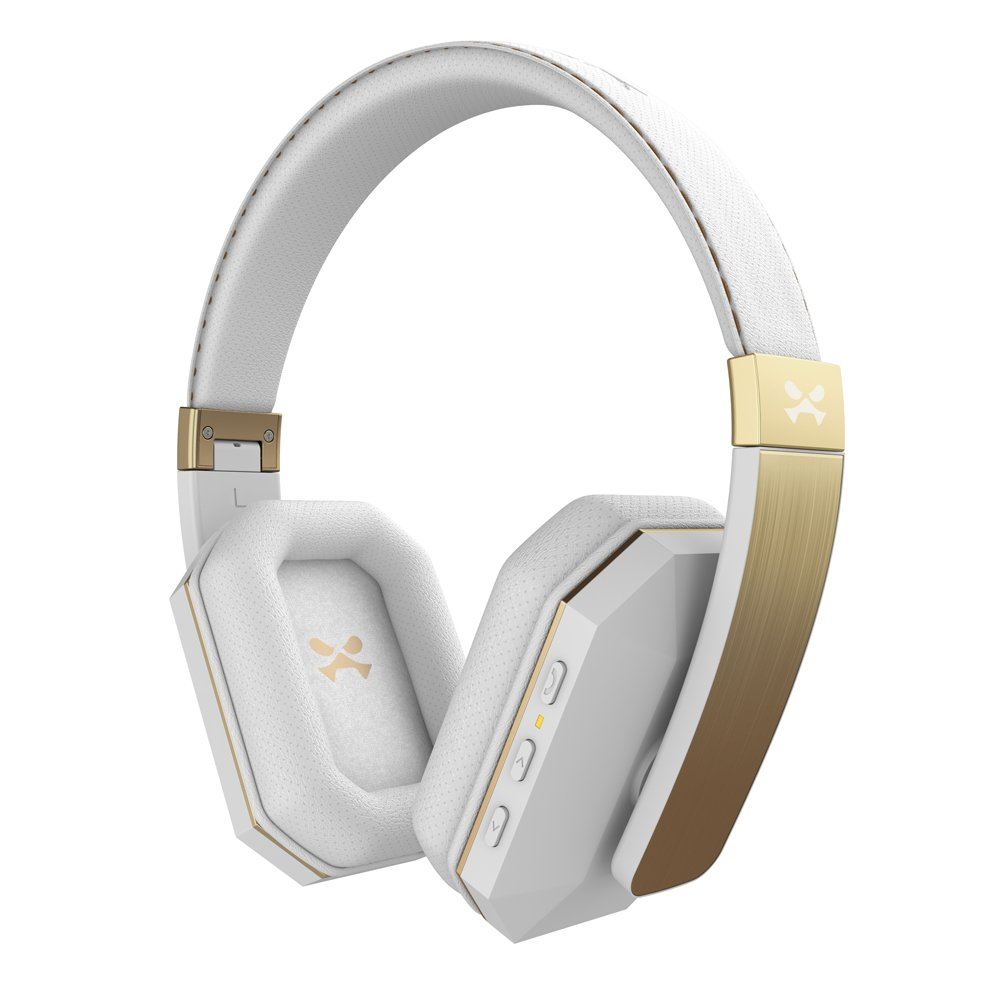 Ghostek soDrop 2 Wireless Bluetooth Headphones with Extra Strong Bass | White & Gold