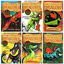 Cressida Cowell: Hiccup (How to Train Your Dragon) - 6 books collection pack: (How to Twist a Dragon's Tale / How to Train Your Dragon / A Hero's Guide to Deadly Dragons / How to Cheat a Dragon's Curse / How to Ride a Dragon's Storm / How to Break a Dragon's Heart rrp £35.94)