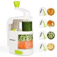 Cortador de Verduras Sedhoom MultiFunción Alimentos 4 Cuchillas,Espiralizador de Picar Frutas,Verduras,Zanahorias,Cebolla,para la Salsa,Ensalada
