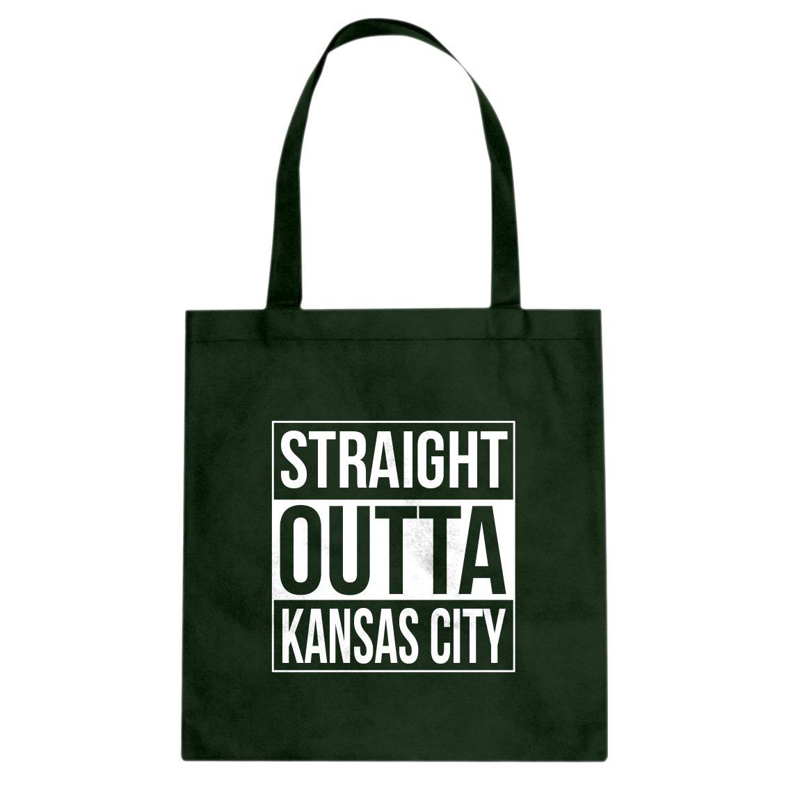 Indica Plateau Straight Outta Kansas City Cotton Canvas Tote Bag