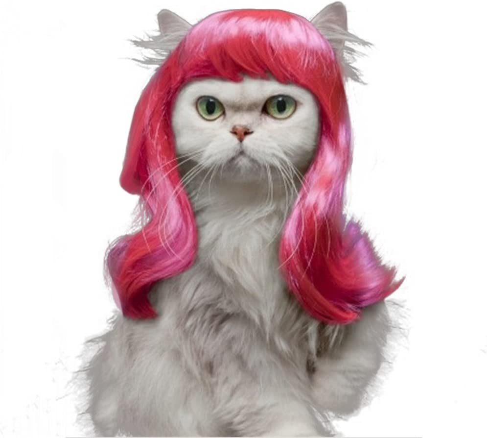 Drasawee Long Synthetic Female Pet Wigs Dog Cat Hair Costumes