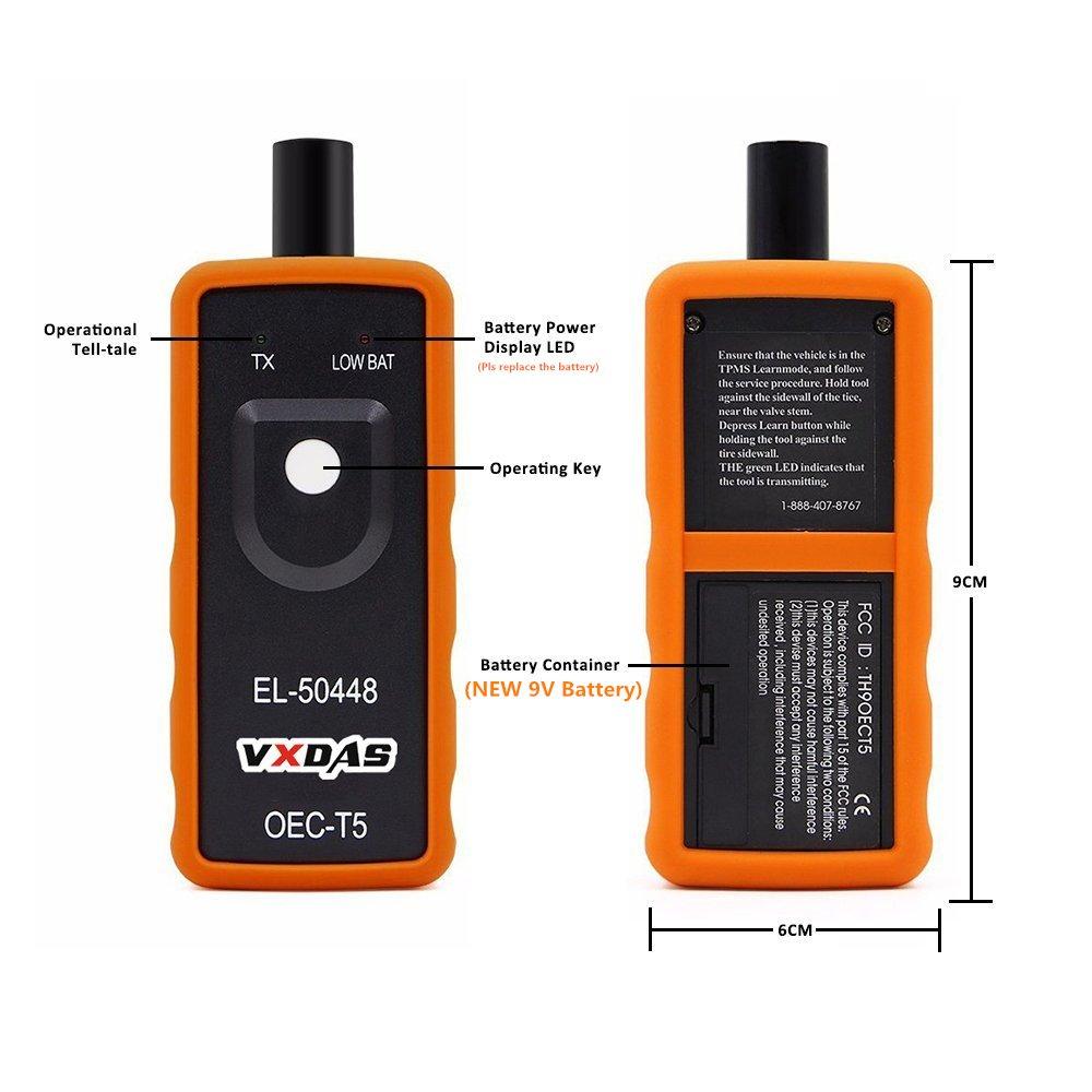 VXDAS EL-50448 Auto Tire Pressure Monitor Sensor TPMS Relearn Reset Activation Tool OEC-T5 for GM Series Vehicle by VXDAS (Image #3)
